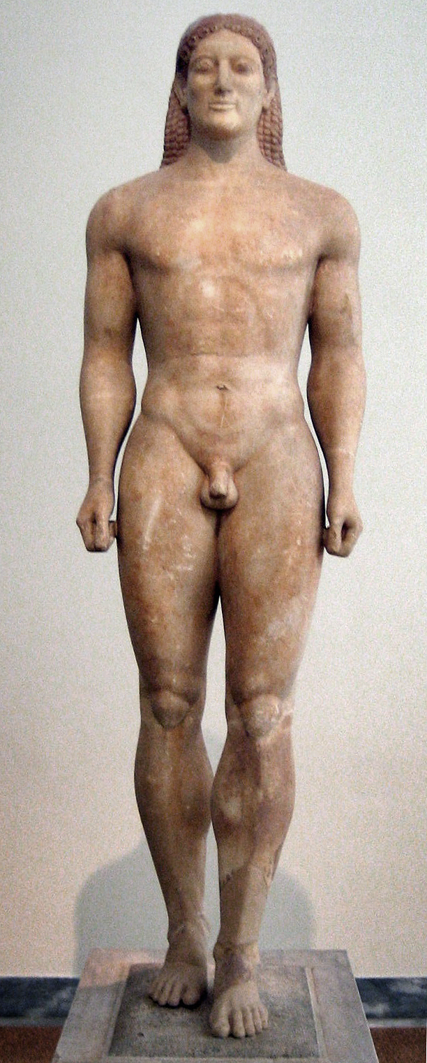 later kouros figure